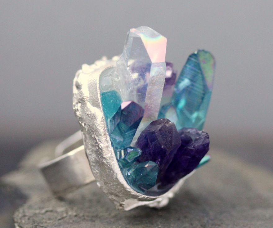 Кольцо Кристаллическая порода
