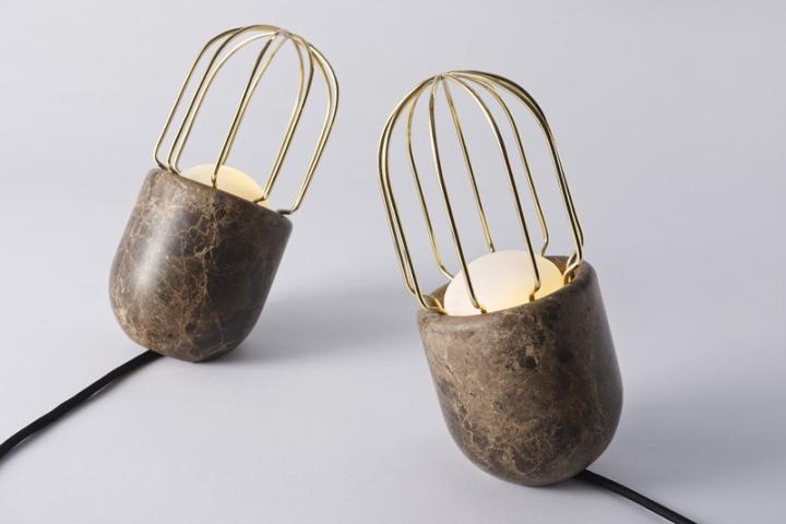 Креативная настольная лампа от Dan Yeffet для Collection Particuliere
