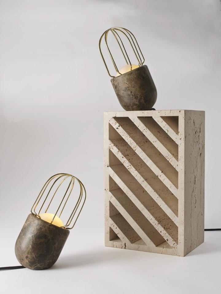 Удивительные мраморные светильники от Dan Yeffet для Collection Particuliere