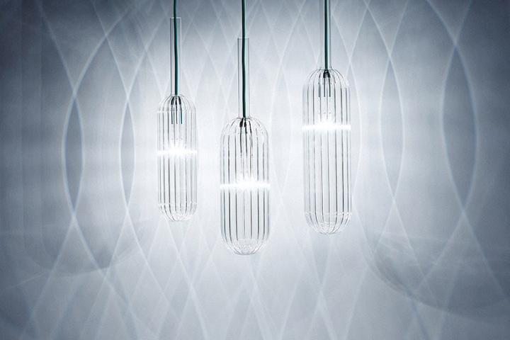 Чудесные стеклянные светильники из коллекции Reed