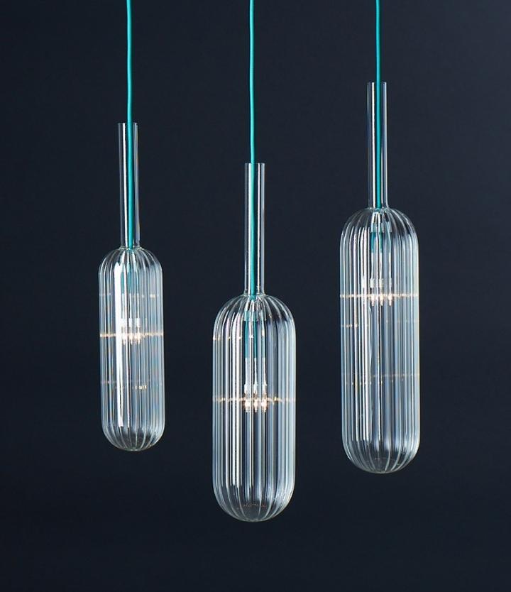 Прекрасные стеклянные светильники из коллекции Reed