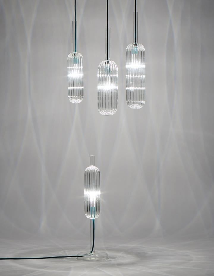 Чудные стеклянные светильники из коллекции Reed