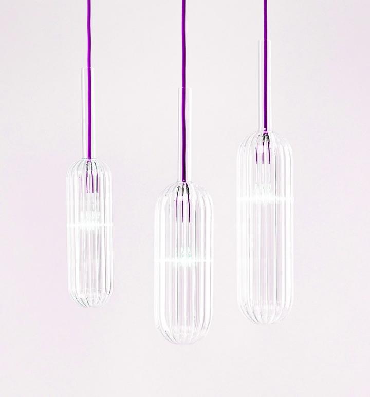 Красивые стеклянные светильники из коллекции Reed