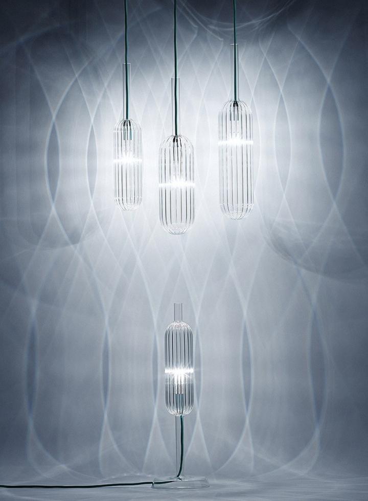 Современные стеклянные светильники из коллекции Reed