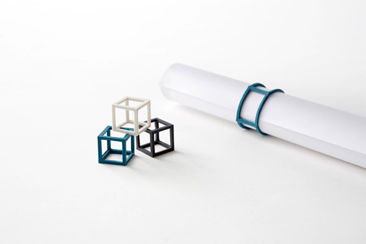 Кубическая канцелярская резинка от дизайнерской студии Nendo