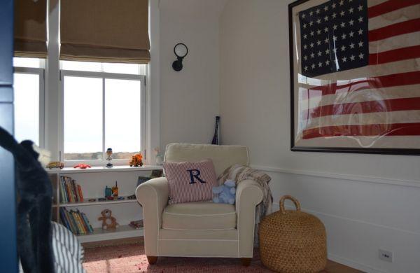 Уникальные цвета американского флага в интерьере