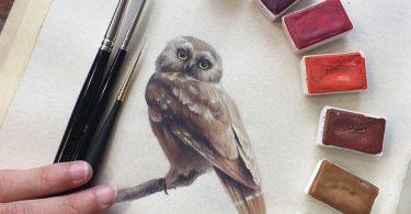 Миниатюрные изображения птиц: орнитологическая тема в творчестве Дины Бродски