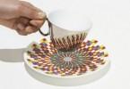 D-Bros: чашки из тонкого фарфора с узорами, отражёнными от блюдец