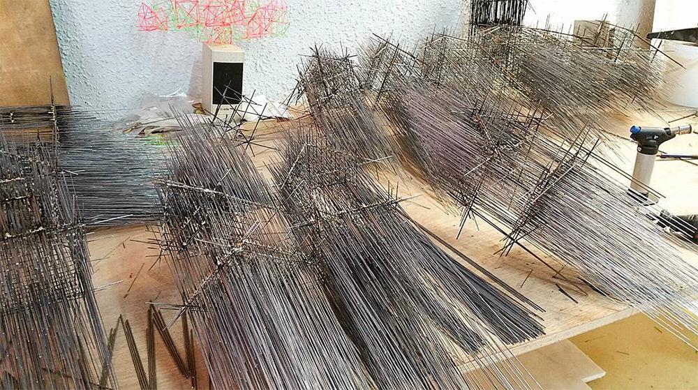 Давид Морено: архитектурные скульптуры с эффектом импрессионистического рисунка