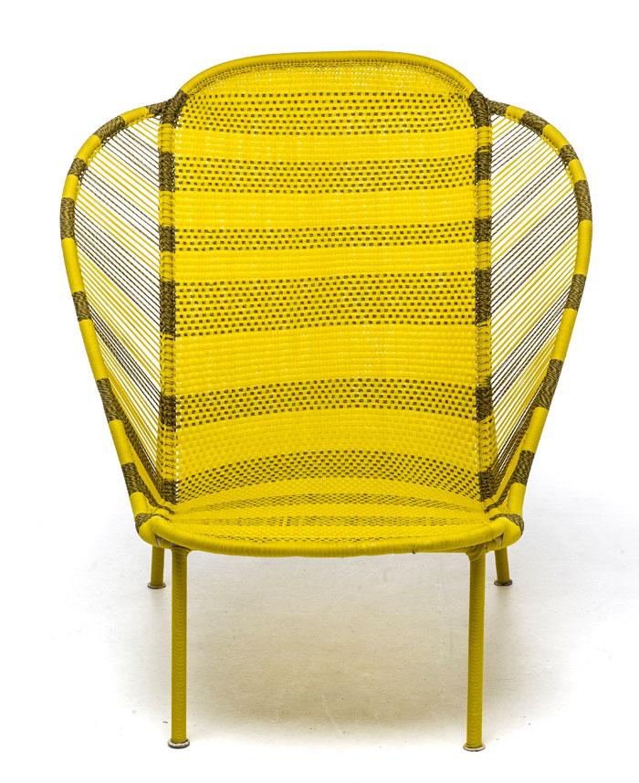 Дачная уличная мебель: ярко-жёлтое кресло-кушетка - Фото 2