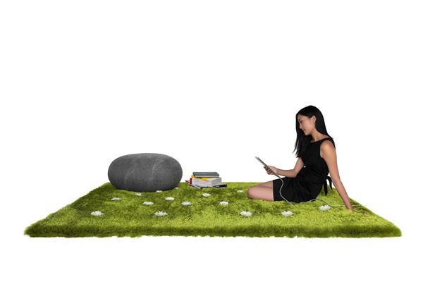 Зеленый ковер Daisy Garden от Joe Jin Design Company Ltd