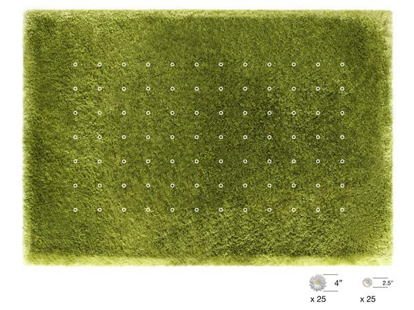 Высажены декоративные ромашки на ковре Daisy Garden от Joe Jin Design Company Ltd