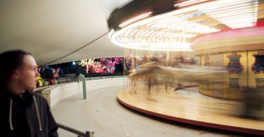 Дэйв Горам: сюрреалистическая gif-анимация парковых каруселей
