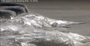 Верхнее озеро в районе города Дулут освобождается ото льда
