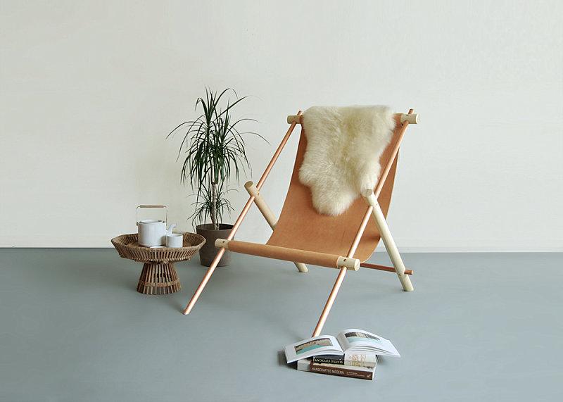 Удивительная мебель от концепт-студии Ladies & Gentlemen - кресло из нескольких деревянных планок