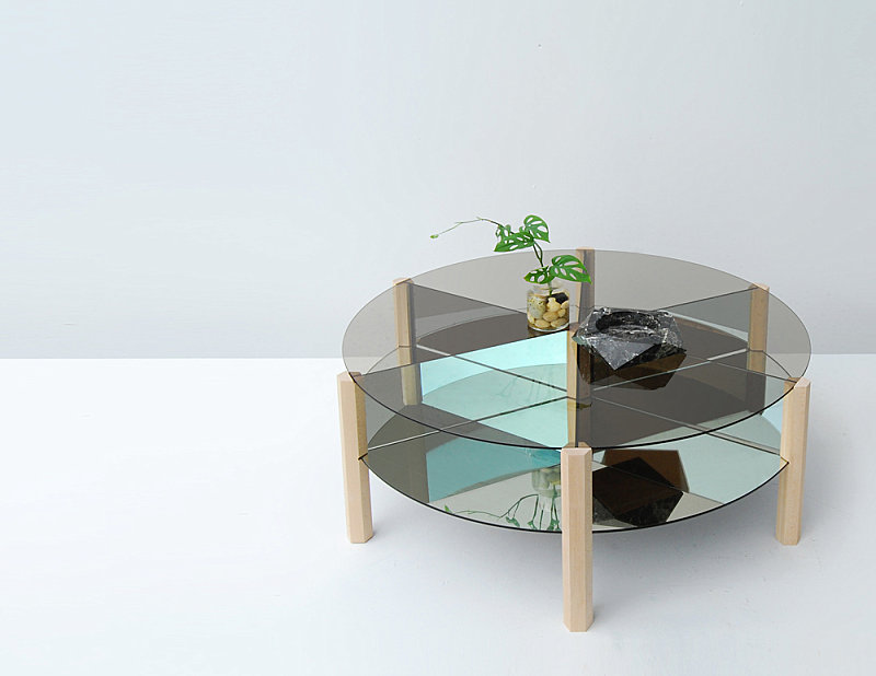 Уникальная мебель от концепт-студии Ladies & Gentlemen - столик с разбитой на сектора столешницей