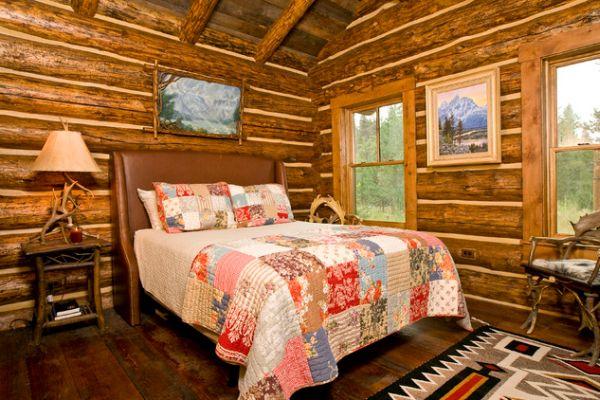 Оформление спальной комнаты в деревенском стиле