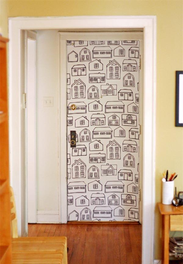 Как украсит дверь своими руками 714