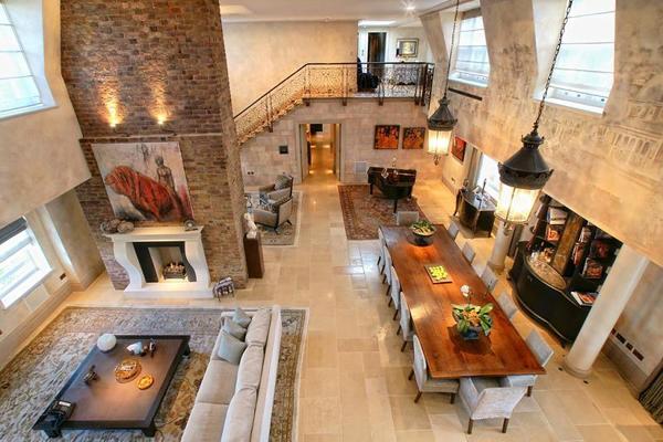 Декор помещения с высокими потолками