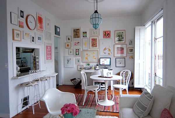 Прекрасное декорирования интерьера с использованием пастельных тонов