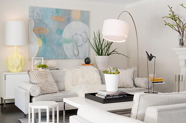 Чудесное декорирования интерьера с использованием пастельных тонов