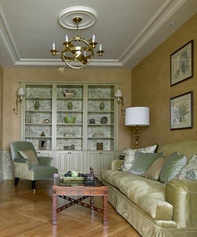 Мебель в гостиной в стиле фьюжн