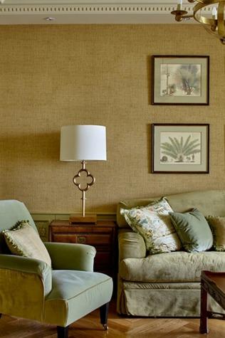 Мягкая мебель в гостиной в стиле фьюжн