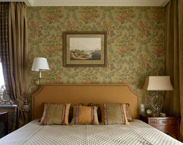 Красивые узоры на стенах в стиле фьюжн
