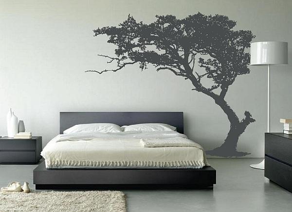 Декор стен спальни своими руками фото