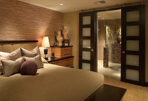 Интерьер спальни в азиатском стиле