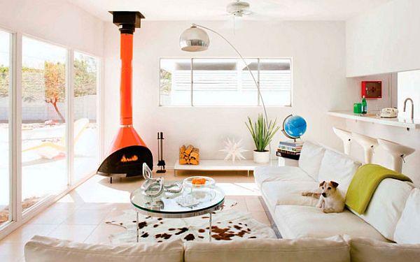 Дизайн интерьера гостиной в белых тонах