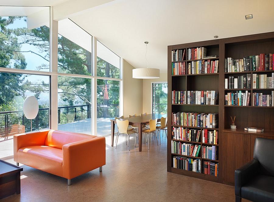 Книжный шкаф для зонирования открытого помещения