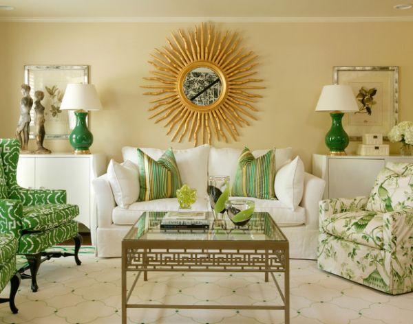 С помощью аксессуаров цвета свежей зелени можно легко оживить интерьер.