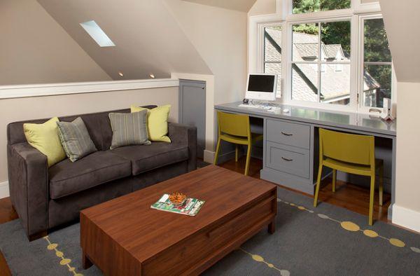 Шикарная гостиная в контрастных декоративных акцентах.