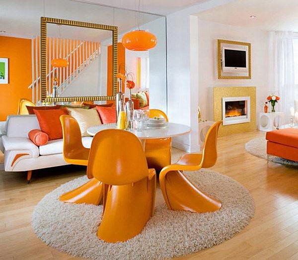 Стулья Panton оранжевого цвета