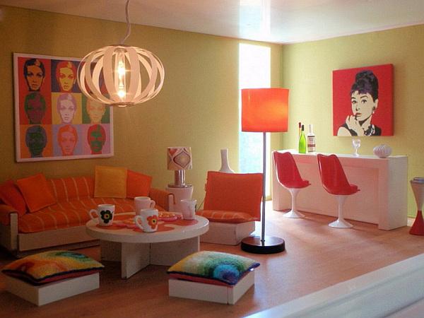 Обивка мебели в оранжевом цвете?