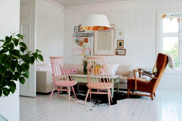 Дизайн интерьера комнаты в пастельных тонах