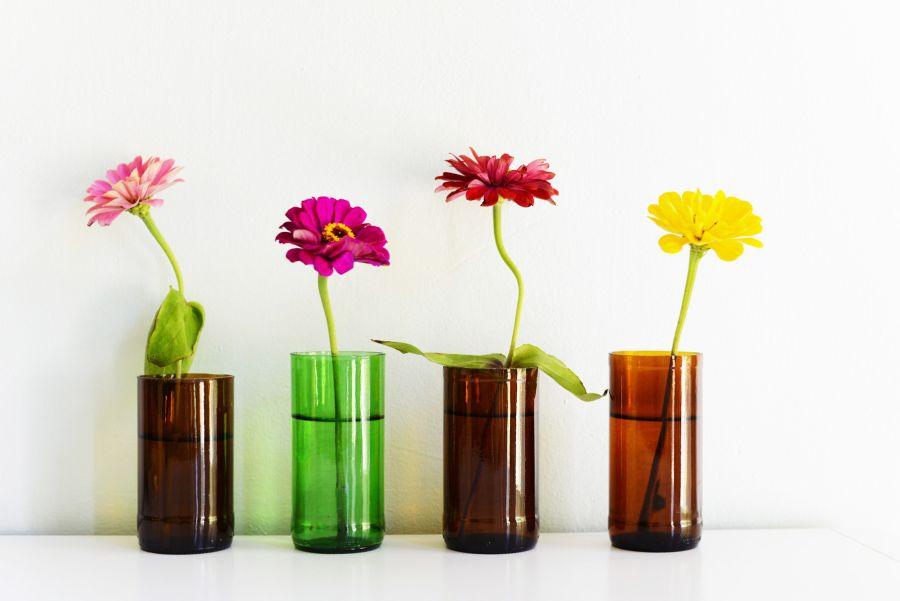Вазы для цветов из бутылок