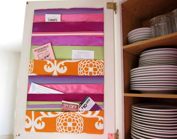 Кармашки из ткани для заметок