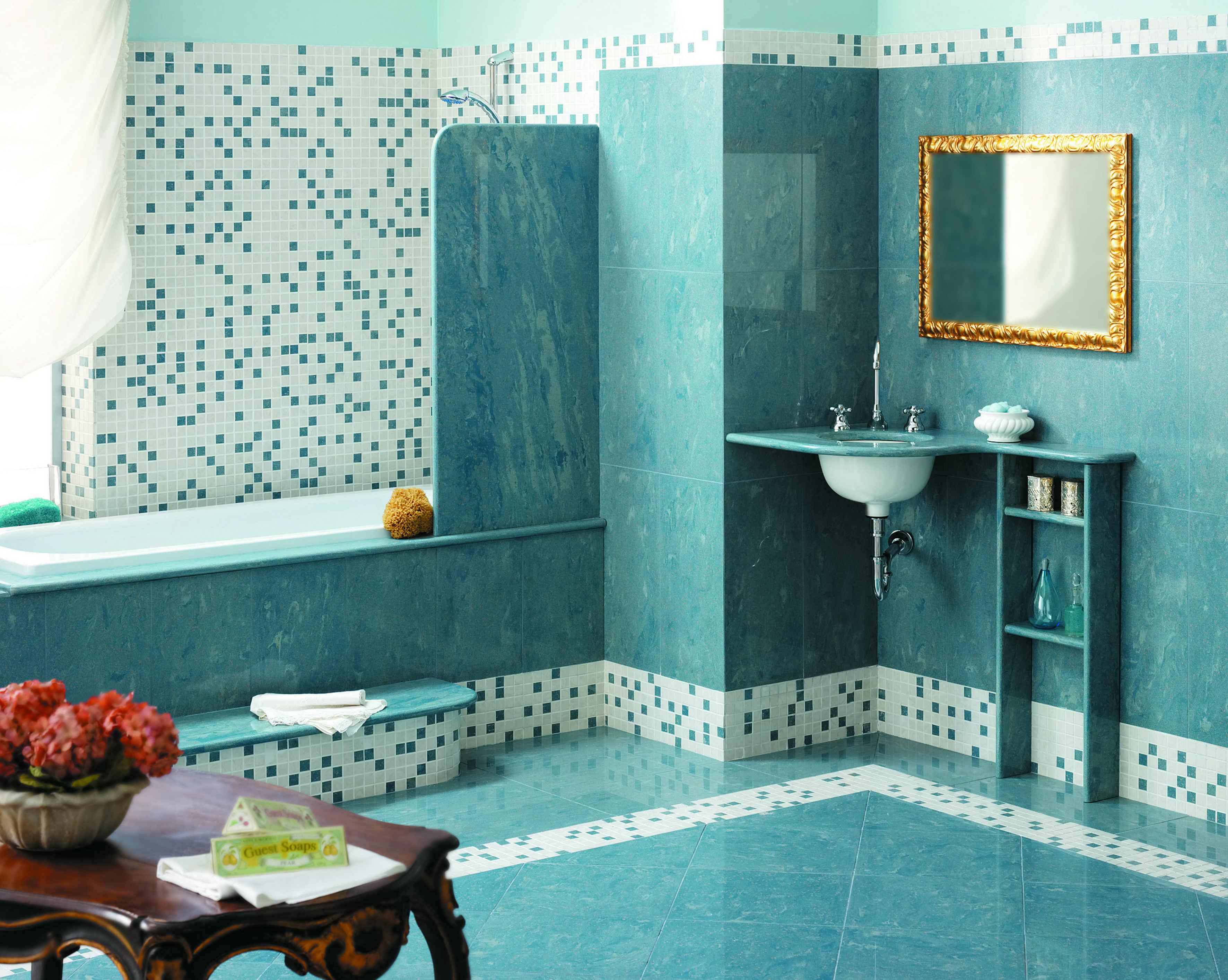 Ванная комната дизайн плитка мозаика