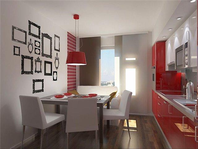Пример дизайна кухни 9 кв м