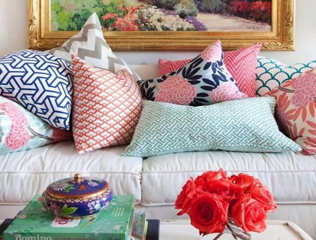 Умопомрачительные декоративные подушки в интерьере