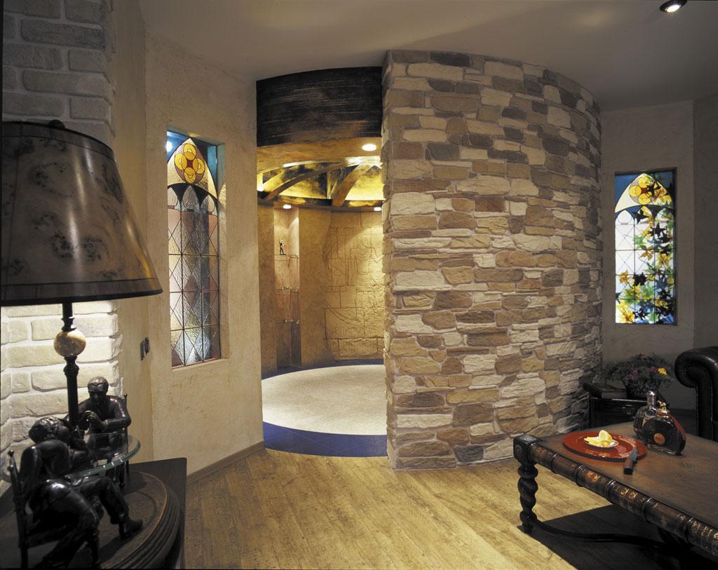 фото дизайн комнаты с диким камнем переваривается помощью