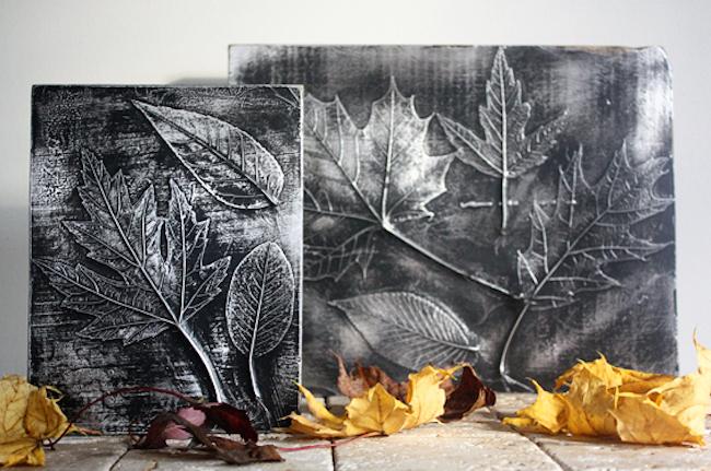 Декор осенними листьями - необыкновенный вариант
