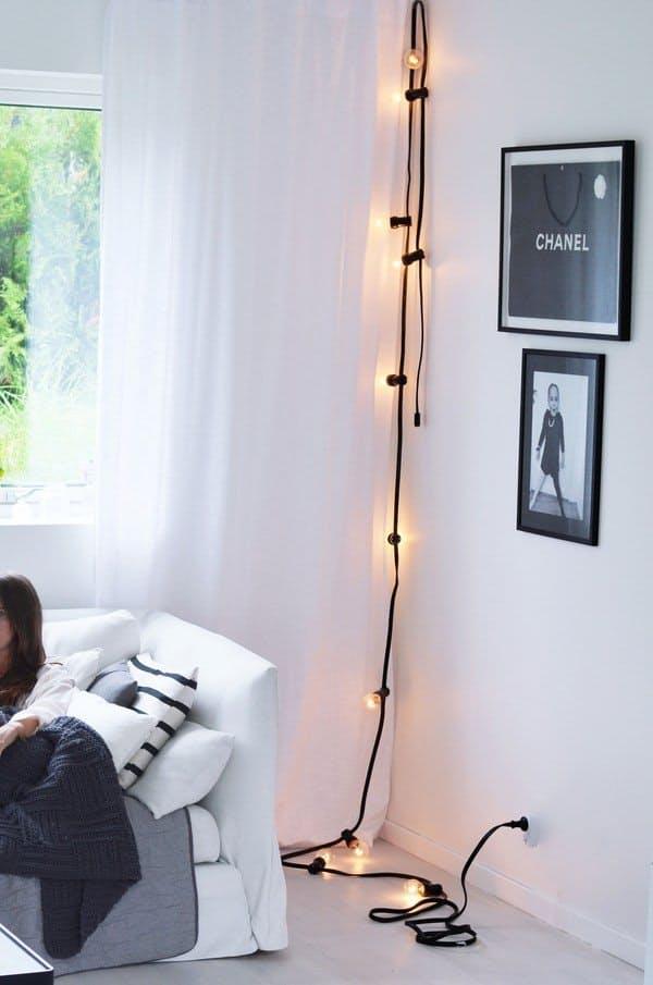 Декоративное освещение: светящаяся гирлянда в интерьере - Фото 6