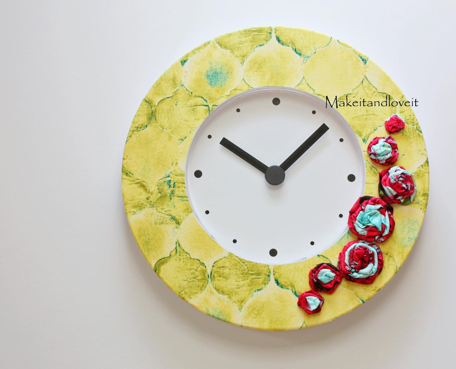 Как задекорировать настенные часы своими руками