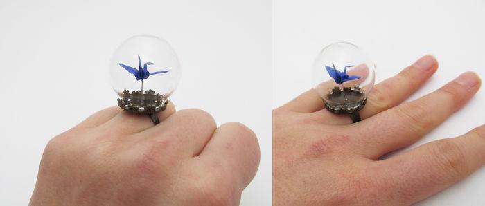 Птицы-оригами с подвижным механизмом