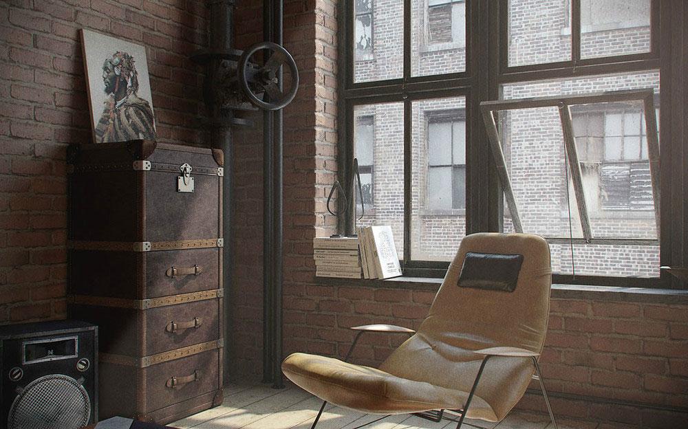 Большие окна в квартире-студии