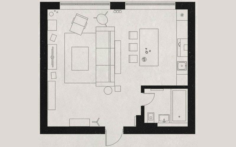 Планировка интерьера в квартире-студии