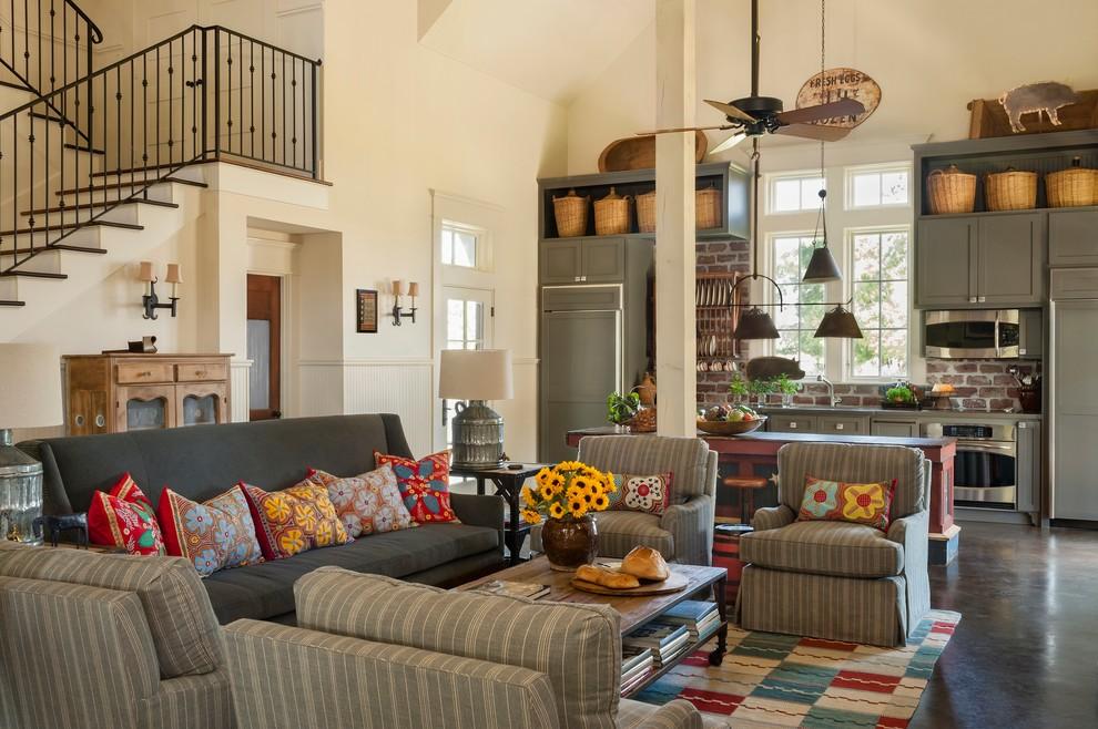 Деревенский стиль в дизайне интерьеров домов - подсолнухи в интерьере